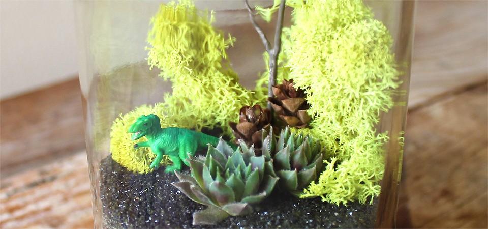 Green Dinosaur Terrarium